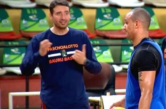Bauru Basket, Hudson Previdelo, Alex Garcia, treino (Foto: Reprodução / TV TEM)