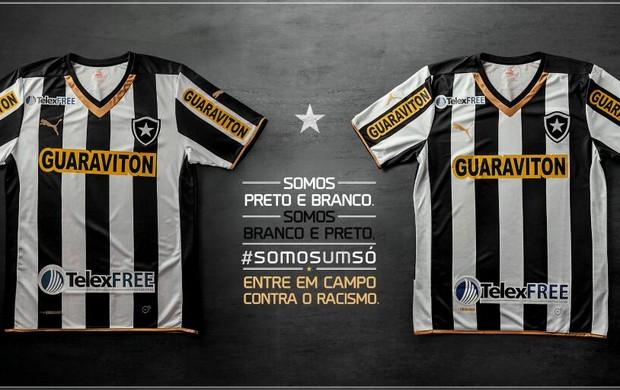 Camisa invertida do Botafogo para o jogo contra o Internacional (Foto   Divulgação Botafogo) 8aa3375cae935