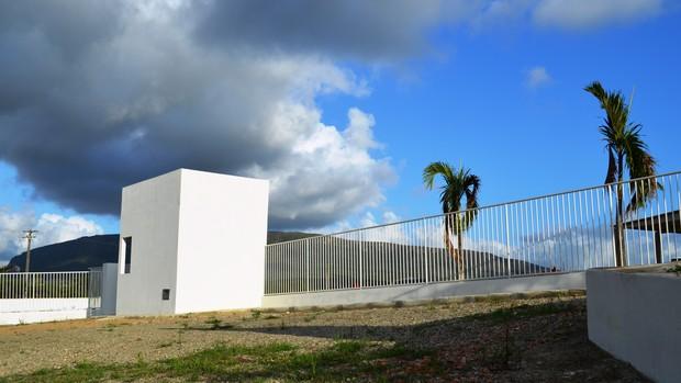 Entrada do CT do Itabaiana já está pronta  (Foto: Felipe Martins/GLOBOESPORTE.COM)