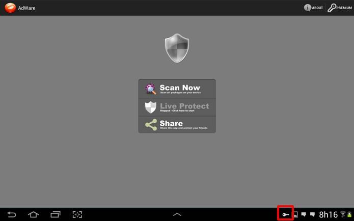 Quando o Block it! estiver com o sistema de bloqueios ativado o ícone se destacará na barra de notificações (Foto: Reprodução/Daniel Ribeiro) (Foto: Quando o Block it! estiver com o sistema de bloqueios ativado o ícone se destacará na barra de notificações (Foto: Reprodução/Daniel Ribeiro))