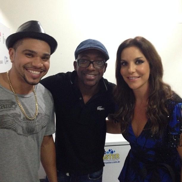 Naldo, Mumuzinho e Ivete Sangalo em bastidores de show no Rio (Foto: Instagram/ Reprodução)