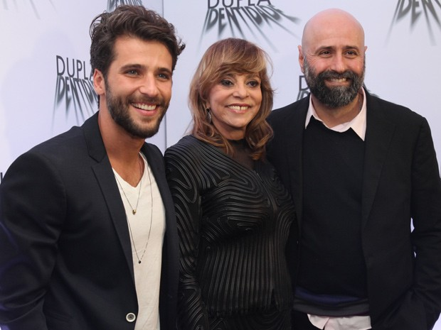 Bruno Gagliasso, Gloria Perez e Mauro Mendonça Filho participam e dão entrevistas (Foto: Pedro Curi/Gshow)