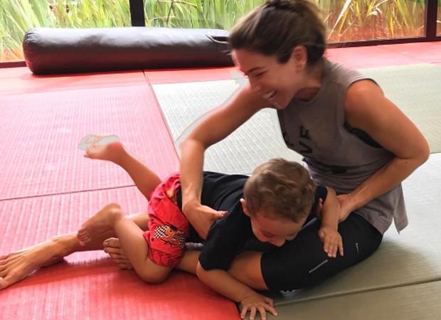 Patricia Abravanel e o filho, Pedro (Foto: Reprodução/Instagram)