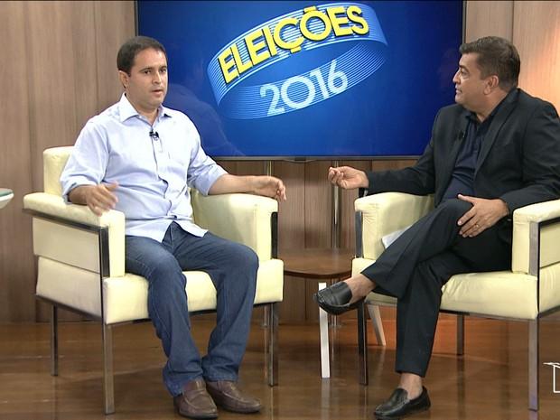 Candidato se comprometeu a terminar os 4 anos de mandato à frente da prefeitura (Foto: Reprodução/TV Mirante)