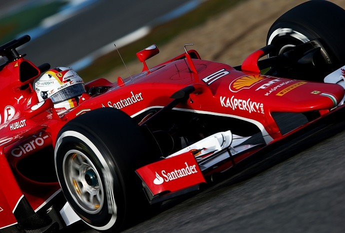 Sebastian Vettel testes Jerez de la Frontera Ferrari (Foto: Getty Images)