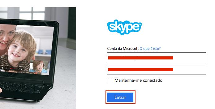 Fazendo login com a Conta Microsoft (Foto: Reprodução/Edivaldo Brito)
