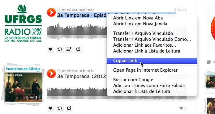 Copie o link do SoundCloud (Foto: Reprodução/Helito Bijora)