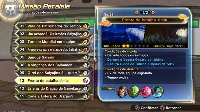 Dragon Ball Xenoverse 2: jogue a missão paralela 12 (Foto: Reprodução / Thomas Schulze)