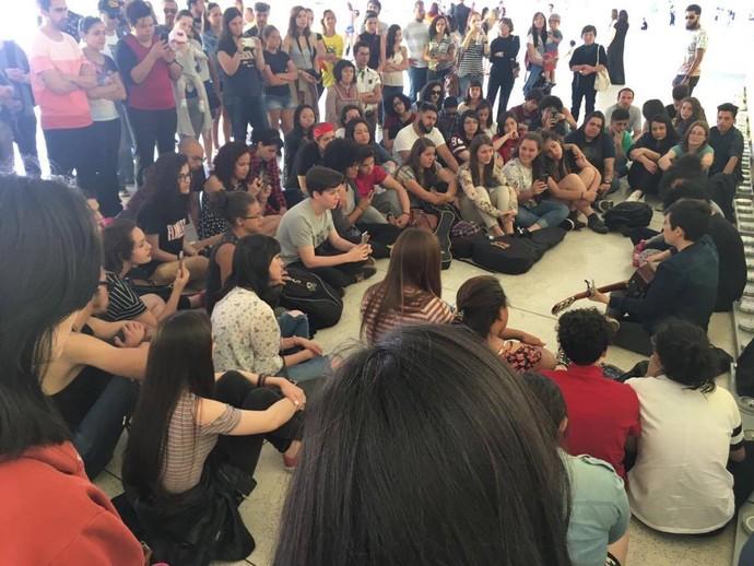 Os fãs compareceram em peso (Foto: arquivo pessoal)