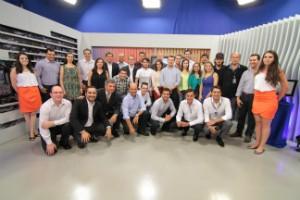 Equipe da RBS TV na cidade (Foto: Divulgação/RBS TV)