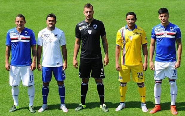 BLOG: Nova camisa do Sampdoria tem chip que toca música do clube