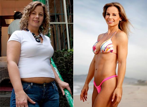 Michelle Franzoni - Antes e Depois (Foto: Divulgação - Marcos Serra Lima/EGO)