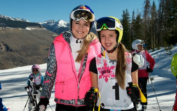 esqui Lindsey Vonn e Eliza Nobre  (Foto: Divulgação)