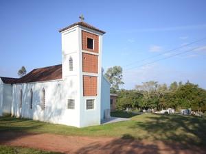 Uma das únicas paróquias de Arroio do Padre, RS (Foto: Luiza Carneiro/G1)