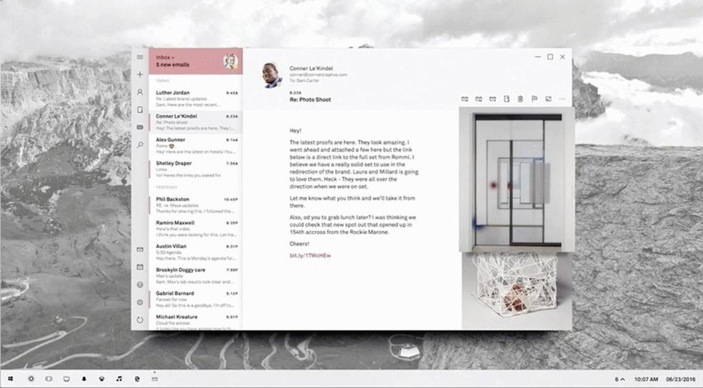 Nova interface do Windows 10 (Foto: Reprodução/Twitter)
