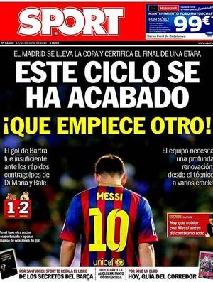 Capas jornais Real x Barça, Copa do Rei (Foto: Reprodução)