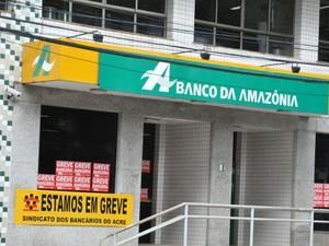 Servidores do Basa continuam em greve (Foto: Manoel Façanha/Arquivo pessoal )