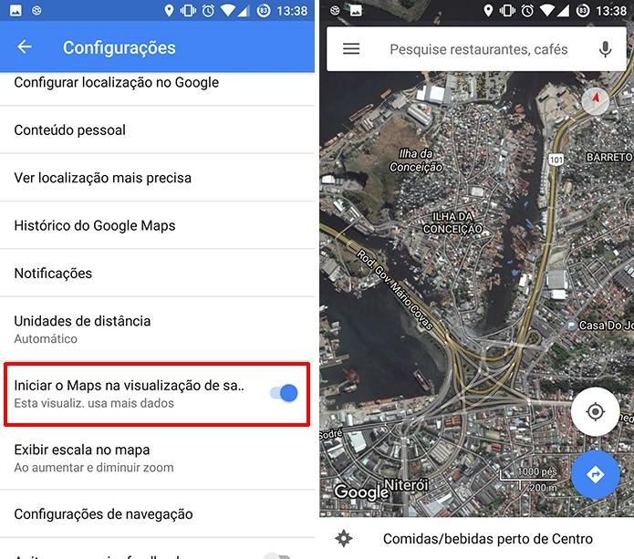 Google Maps mostrará imagens de satélite em tempo real após a ativação do recurso (Foto: Reprodução/Elson de Souza)