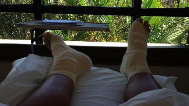 Rafael Moura é submetido a cirurgia nos dois pés (Foto: Reprodução / Twitter )