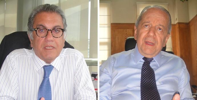 Montagem Carlos Miguel Aidar e Kalil Rocha Abdalla. (Foto: Arte / Globoesporte)