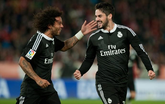 Almeria x Real Madrid - gol Isco (Foto: AFP)