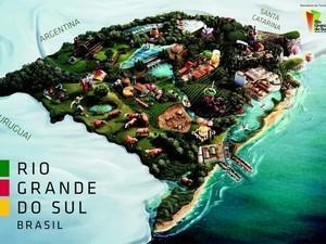 Mapa mostra atrações do Rio Grande do Sul com potencial turístico copa do mundo 2014 rio grande do sul (Foto: Divulgação)