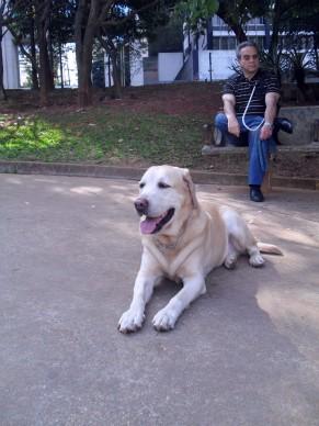 Luiz Alberto e seu cão-guia (Foto: Divulgação)