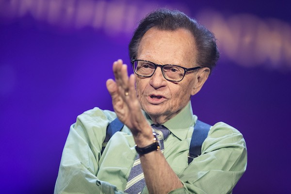 O entrevistador e apresentador de TV Larry King (Foto: Getty Images)
