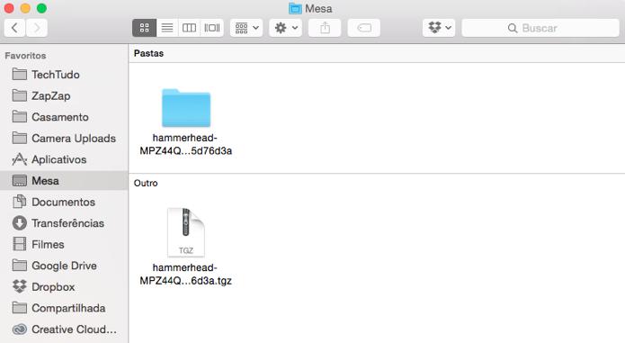 Extraia o arquivo TGZ e o coloque em uma pasta no computador (Foto: Reprodução/Paulo Alves)