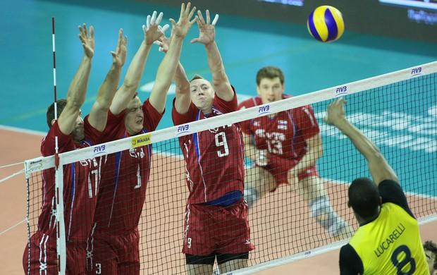 vôlei Alexey Spiridonov Russia x Brasil (Foto: FIVB)