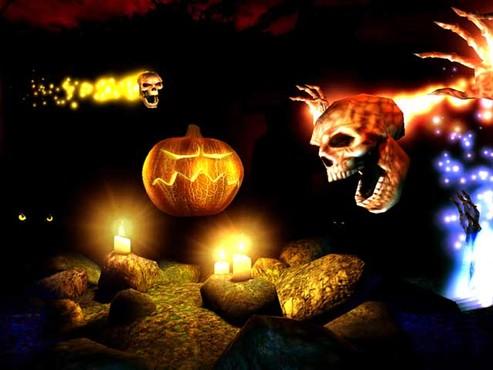 screenshot de Proteção de Tela: Halloween 3D