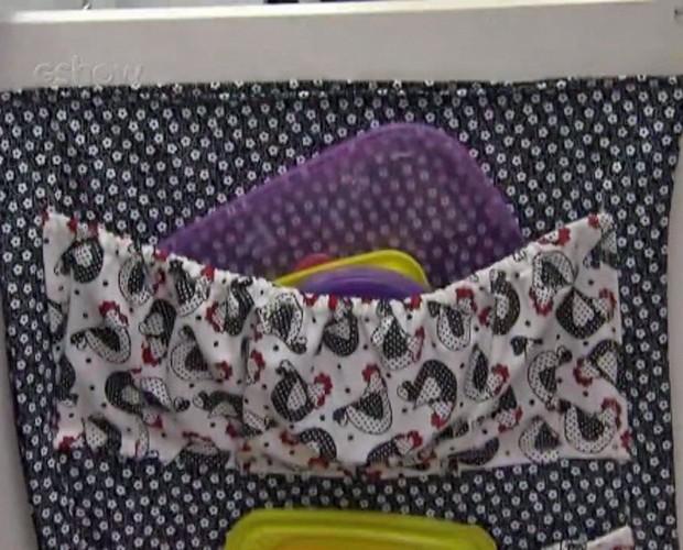 Porta-tampas criado pela dona de casa Renata Nunes (Foto: Mais Você/TV Globo)