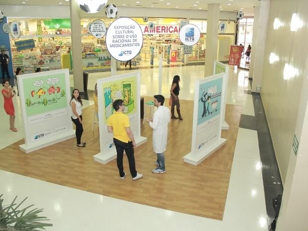 Quadrinhos expõe os riscos da automedicação em Bauru  (Foto: divulgação/ Shopping Boulevard)