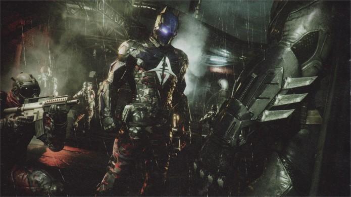 O vilão Arkham Knight com sua tropa (Foto: Divulgação)