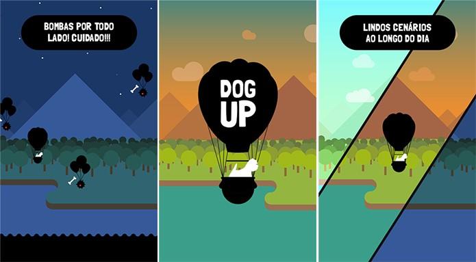 Dog Up é um game bastante difícil no qual usuário controla um cachorrinho a bordo de um balão (Foto: Divulgação/Windows Phone Store)