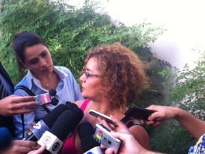 Antonia Ferreira dos Santos, mãe do ciclista David Santos de Souza (Foto: Livia Machado)