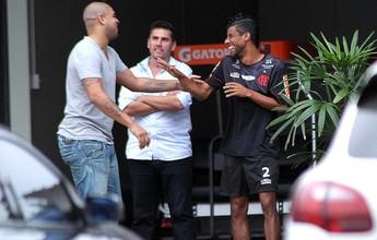 """Léo Moura deseja sorte ao amigo Adriano: """"Estarei torcendo por você"""""""