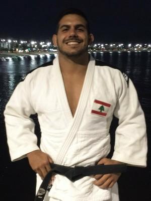 Judoca Nacif Elias será o porta-bandeira do Líbano na cerimônia de abertura do Rio 2016 (Foto: Raquel Lima)