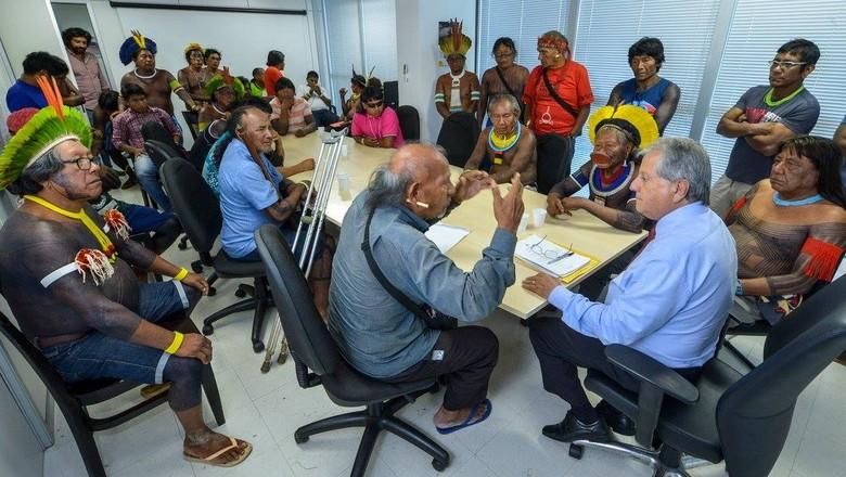 lideranças-indígenas-antônio-costa (Foto: Mário Vilela/Funai)
