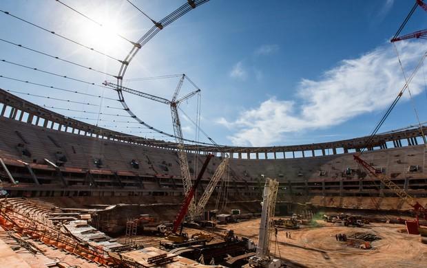 obras Estádio Mané Garrincha (Foto: Portal da Copa)