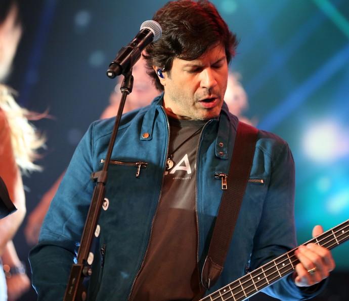 Paulo Ricardo relembrou sucessos no palco do 'Domingão' (Foto: Carol Caminha/ Gshow)