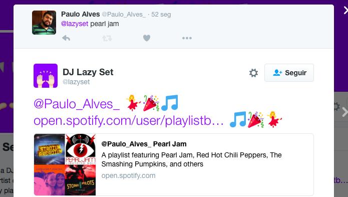 Receba o link da playlist no Twitter (Foto: Reprodução/Paulo Alves)