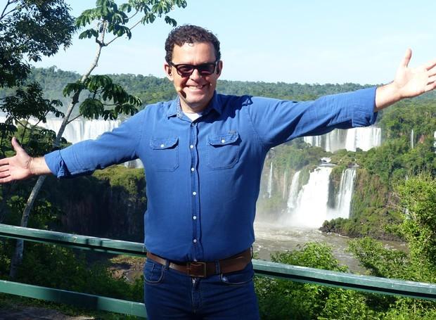 Fernando Rocha apresentou o desfecho do primeiro 'Bem Verão' em Foz do Iguaçu (Foto: Divulgação/RPC)