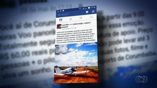 Avião que caiu e matou 4 não podia fazer voos panorâmicos, diz Anac
