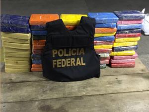 Droga apreendida durante a investigação da Polícia Federal (Foto: Divulgação/Polícia Federal)