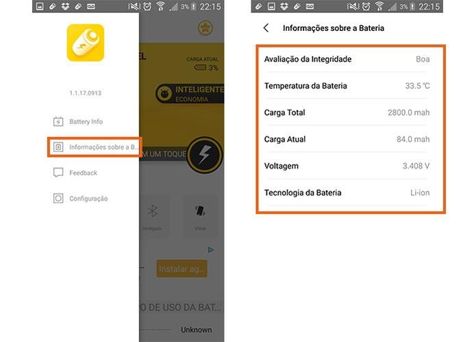 Veja mais informações sobre a bateria do seu celular Android (Foto: Reprodução/Barbara Mannara)