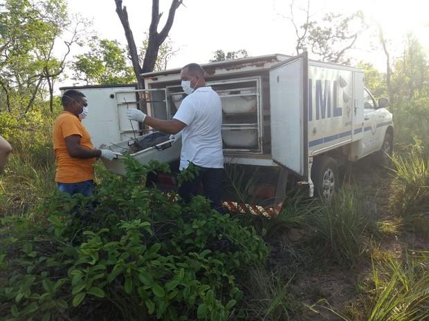 Corpor é enocontrado próximo a Araguaína  (Foto: Lucas Ferreira/ TV Anhanguera)