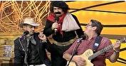 Guri de Uruguaiana com Oswaldir e Carlos Magrão (Reprodução/RBS TV)