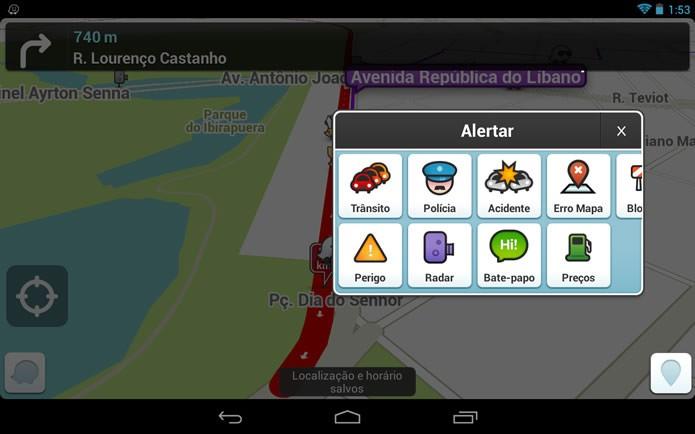 Tido como um dos melhores app de navegação, o Waze também dá excelentes dicas para escapar de congestionamentos (Foto: Divulgação/Google Play) (Foto: Tido como um dos melhores app de navegação, o Waze também dá excelentes dicas para escapar de congestionamentos (Foto: Divulgação/Google Play))