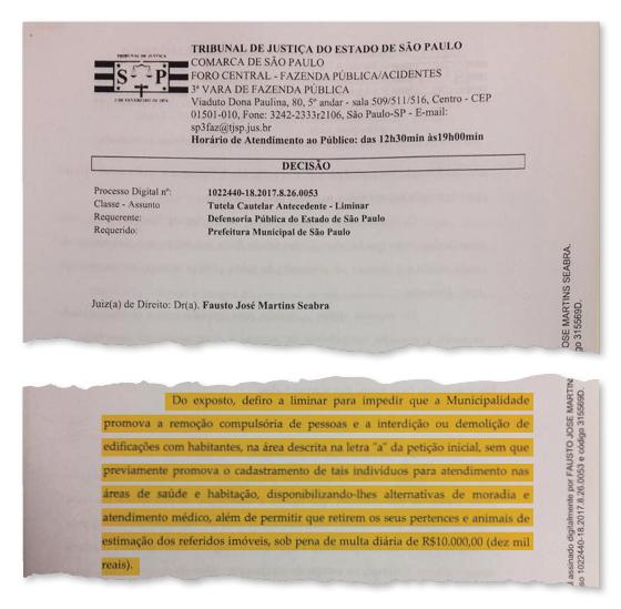 Justiça impede que João Doria remova moradores compulsoriamente da região da Cracolândia (Foto: Reprodução )